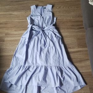 J Crew blue cotton summer dress.